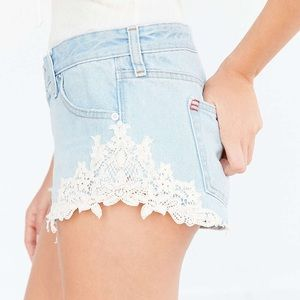 NWT Urban Outfitters Low-Rise Lace Trimmed Shorts